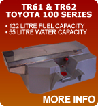 Long Range Replacement Fuel & Water Tank Toyota Land Cruiser 100 Series 122 Litres Fuel & 55 Litres Water
